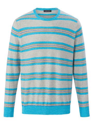 LOUIS SAYN Pullover Rundhals-Pullover in aqua/grau/melange