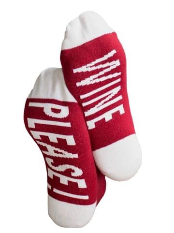 Clark Crown® Under-Statement-Socks mit lustigen Sprüchen in Wine Please