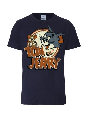 Logoshirt T-Shirt Tom und Jerry in dunkelblau