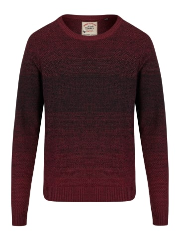 Eagle Denim Strickpullover in bordeaux schwarz