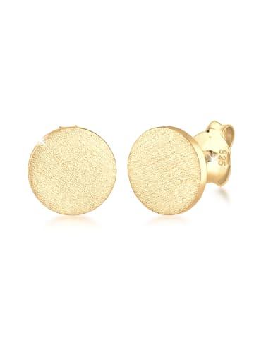KUZZOI Ohrringe 925 Sterling Silber Basic Ohrstecker in Gold