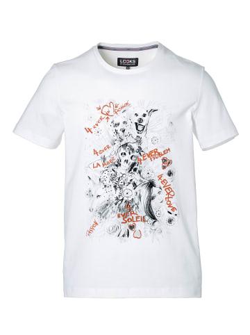 LOOKS by Wolfgang Joop T-Shirt Dog-Print in Weiß