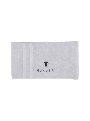 MOROTAI Handtuch Brand Towel Small in Hellgrau