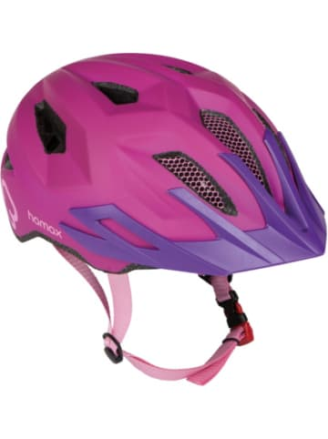 Hamax Fahrradhelm Flow with rear light, PINK/PURPLE 52-57 cm