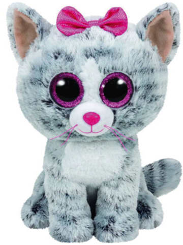 TY Beanie Boo Katze Kiki grau, 24cm