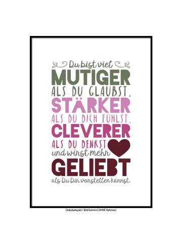 """SMART ART Kunstdrucke Kunstdruck / Poster """"Du wirst geliebt"""" Farbversion sechs / A4 oder A3"""