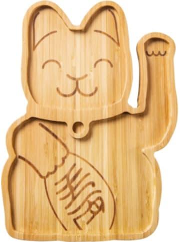 "Donkey Products Bambus Teller ""Lucky Cat"" 22 x 16 x 1,5 cm"