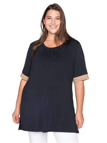 Sheego Shirt in nachtblau