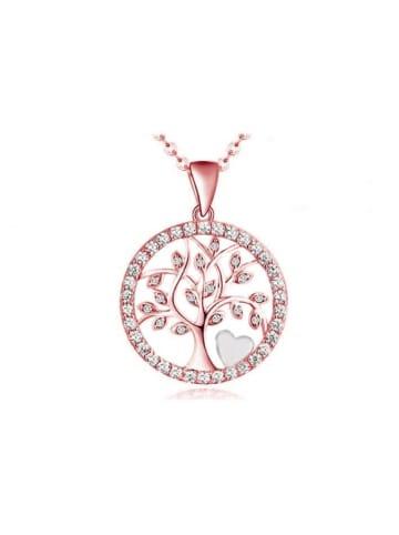 Silvity Lebensbaum mit feinem Herzen, Farbe: Roségold