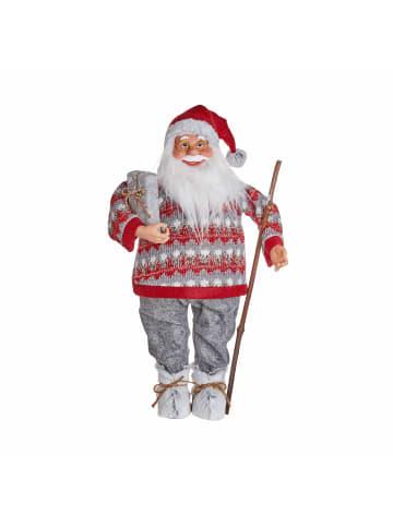 Butlers Deko-Santa mit Pullover Höhe 65cm X-MAS in rot