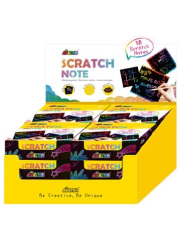 Avenir Scratch Note Kratzbild Notizblock, 12-fach sortiert
