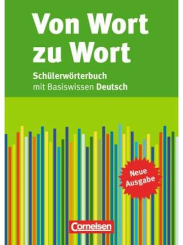 Cornelsen Verlag Von Wort zu Wort, Schülerwörterbuch mit Basiswissen Deutsch