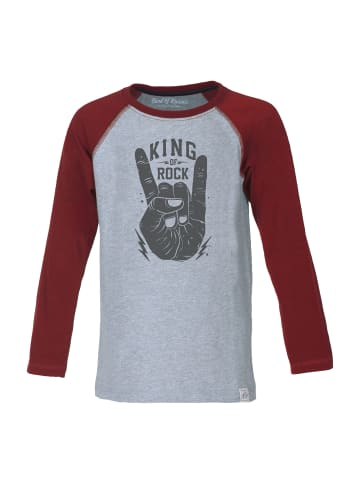 "Band of Rascals Longsleeve "" King of Rock Raglan "" in rot"