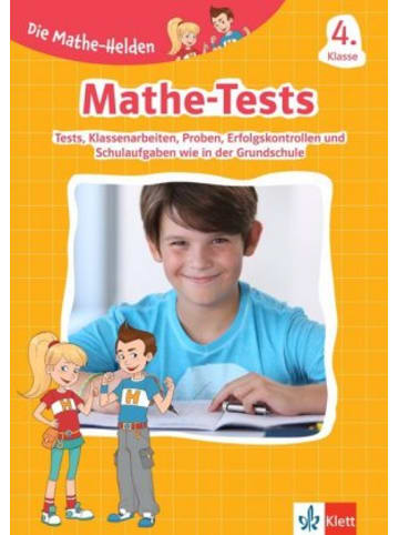 Klett Kinderbuch Die Mathe-Helden - Mathe-Tests 4. Klasse