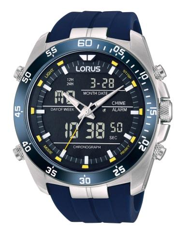 Lorus Herren-Chronograph Schwarz / Blau / Silber