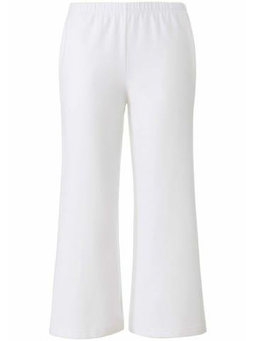 PETER HAHN Homewearpants Sweat-Culotte in weiß