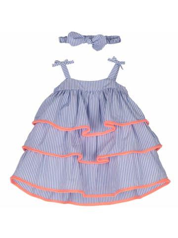 Mamino Kindermode Mädchen Kleid mit Haarband in hellblau