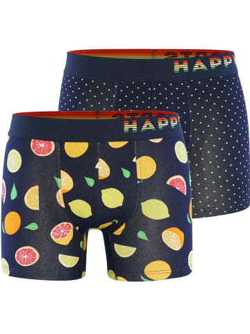 Happy Shorts Boxershorts Trunks #2 in Navy/Bunt