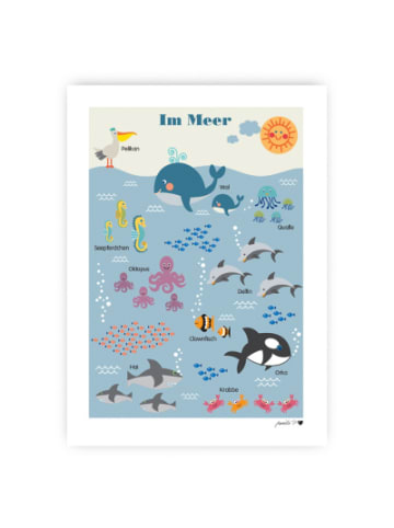 ByGraziela  Poster, Im Meer, 50 x 70 cm