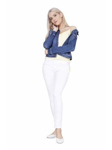 Blue Fire Jeans in weiß
