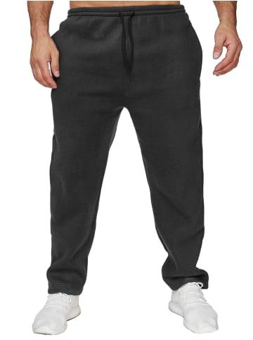 Humy Fleece Jogginghose Gefütterte Baggy Sweat Pants Trainingshose in Schwarz
