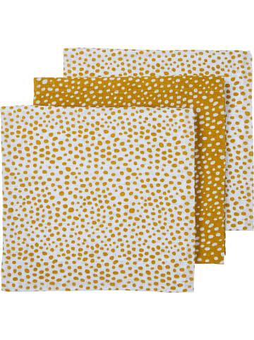 Meyco Mullwindeln - Cheetah, 70 x 70 cm, gold, 3er Pack