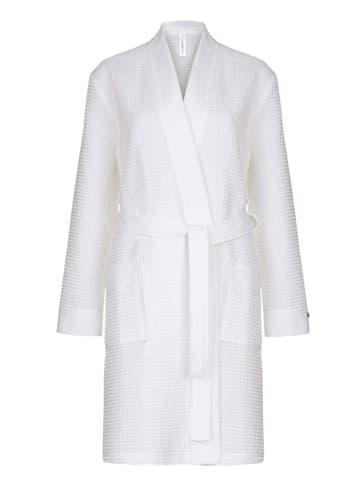 Taubert Bademantel - kurz Kimono - 100 cm Thalasso in Weiß