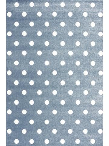 Livone Teppich CIRCLE in blaugrau/weiss