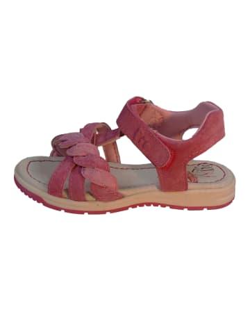Pio Sandale Mädchensandale mit Klettverschluss in dahlia fragola