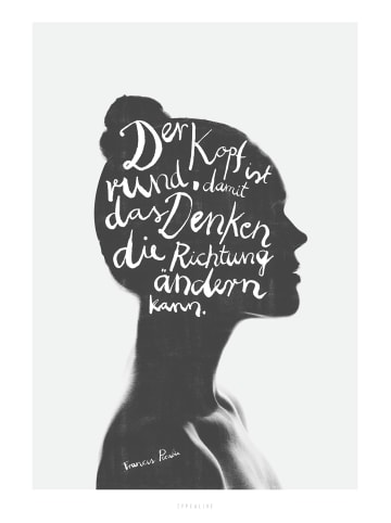 """Typealive Print """"Denken"""" / A3 bis 60 x 90 cm"""