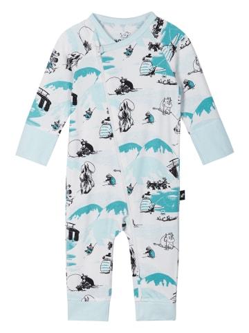 "Reima Strampler "" Moomin Trygg "" in Baby blue"