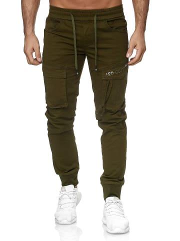 Leo Gutti Design Pants Freizeit Stoffhose in Khaki