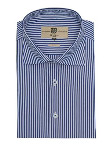Bertoni Langarmhemd Dennis in kräftiges Blau