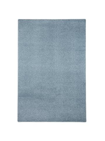 Snapstyle Hochflor Velours Teppich Luna Mix in Blau