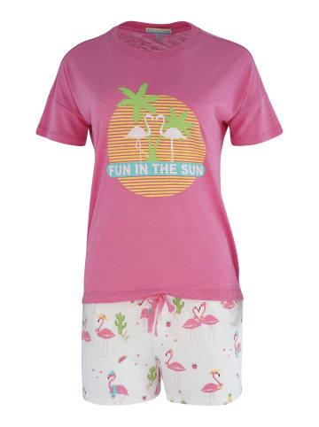 P.J. Salvage Pyjama Print in pink fuchsia