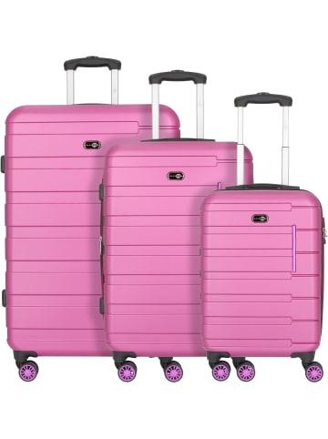 Travel Pal München 4-Rollen Kofferset 3tlg. in beere/pink