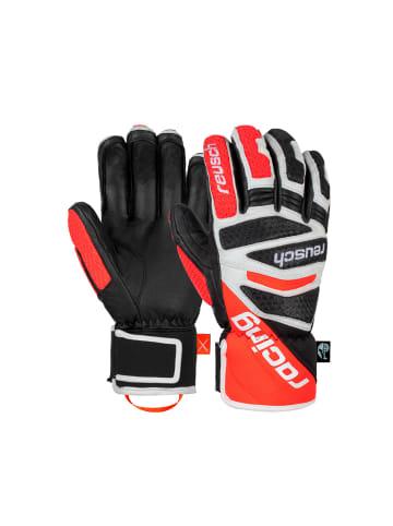 Reusch Fingerhandschuhe Worldcup Warrior DH in 7810 black/white/fluo red