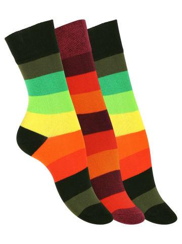 VCA® Socken 3 Paar, mit Blockstreifen in Bunt