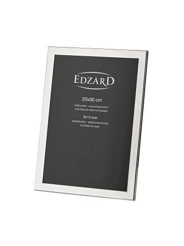 Edzard Bilderrahmen Prato in Silber, für Foto 20x30cm, Versilbert & Anlaufgeschützt