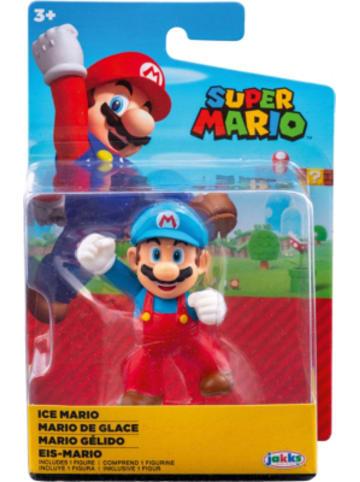 Super Mario Super Mario Figur Ice Mario Fist Bump, 6,5cm