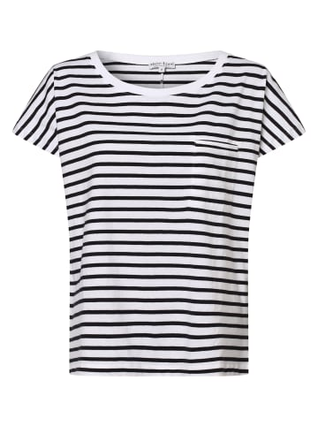 Marie Lund T-Shirt in weiß marine