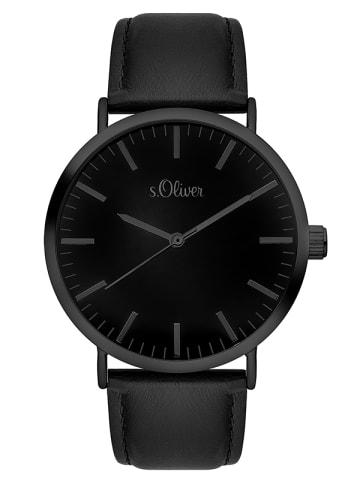 S.Oliver Time Armbanduhr in schwarz