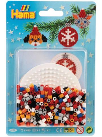 Hama Bügelperlen HAMA 4118 Blister Weihnachten Kreis, 450 midi-Perlen & Zubehör
