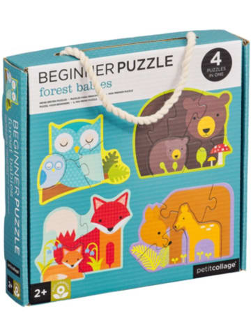 Petit Collage Beginner Puzzle Waldtiere 3/4/5/6 Teile