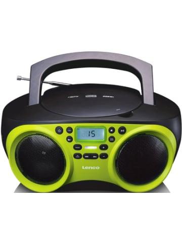 Lenco SCD-200LM - FM-Radio mit CD/MP3-Player und USB-Anschluss, lime