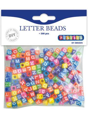 Playbox Buchstabenperlen Kunststoff bunt eckig 7 x 7 mm, 300 Stück