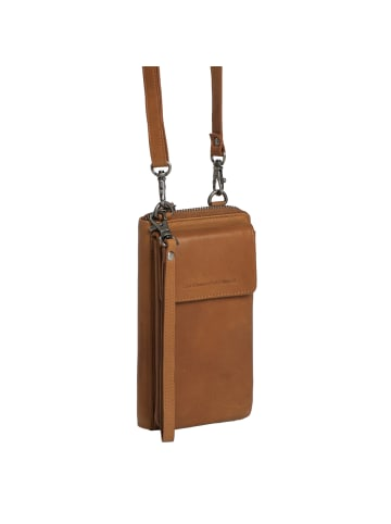 The Chesterfield Brand Wax Pull Up Malaga Handytasche Leder 10 cm in cognac