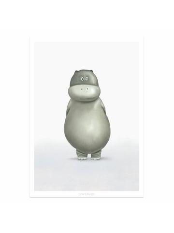 """Dori's Prints Poster / Safari Bild """"Hippo Dorina"""" - DIN A4"""