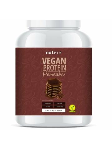 Nutri+ Pulver vegane Protein Pancakes (1000g) in Schoko