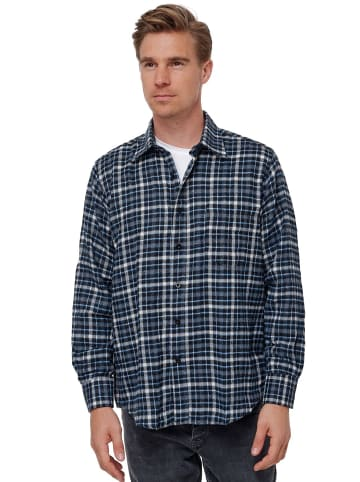 SECOLO Hemd Kariertes Flanell Holzfällerhemd Checkshirt in Blau